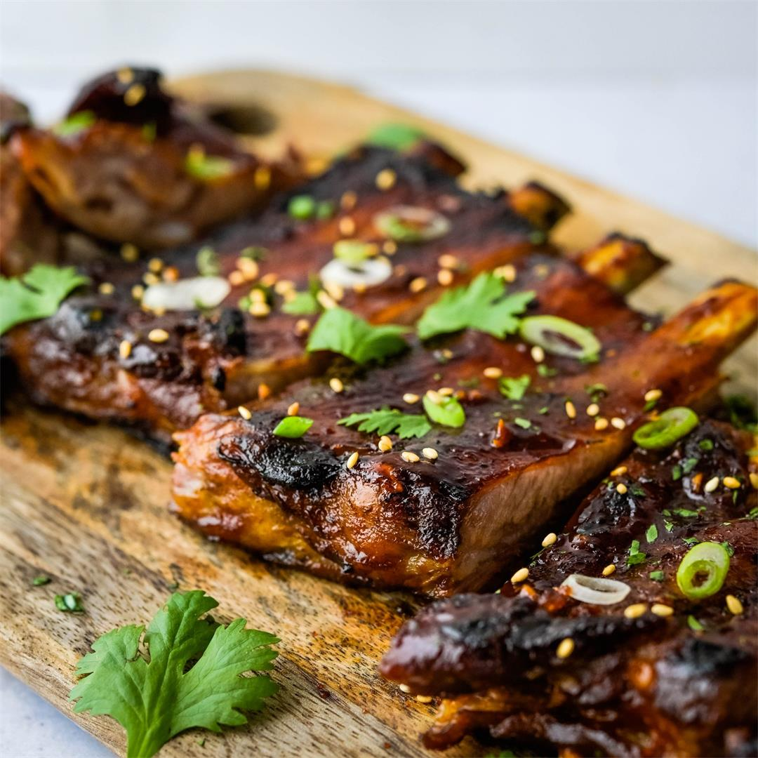 Sweet, Spicy, Tangy Korean Ribs