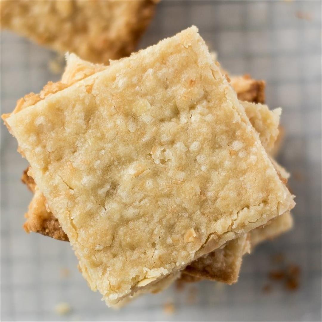 Almond Coconut Cookie Bars – Milk and Pop