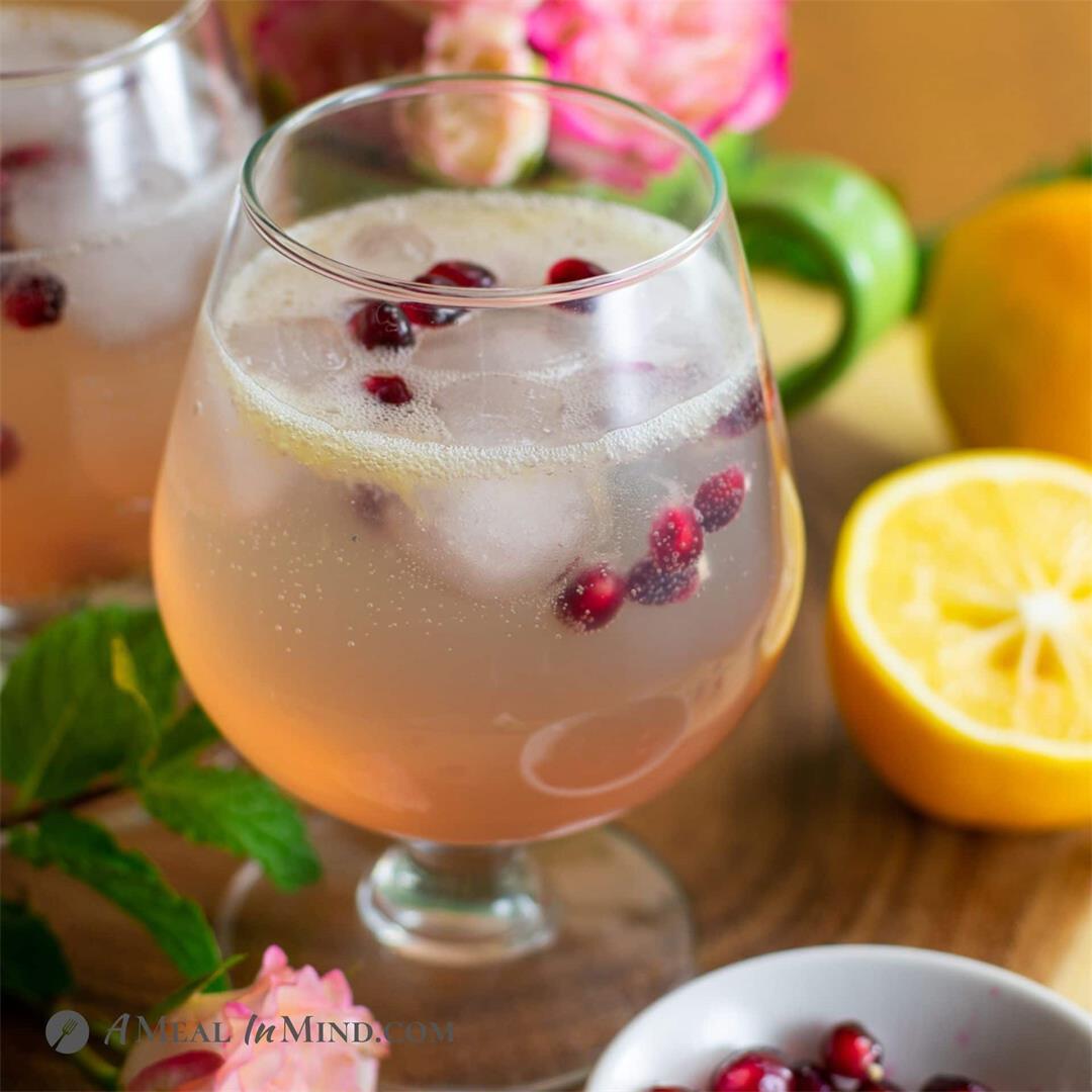 Sparkling Meyer Lemon Mocktail