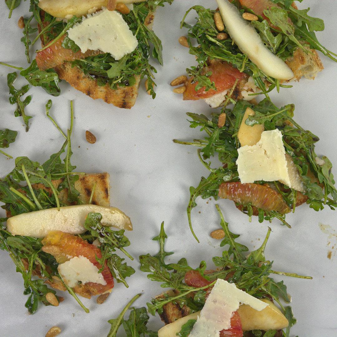 Arugula Pear Orange and Pecorino Salad – A Gourmet Food Blog