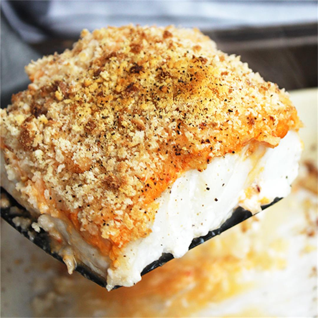 Crispy Baked Cod with Red Pesto