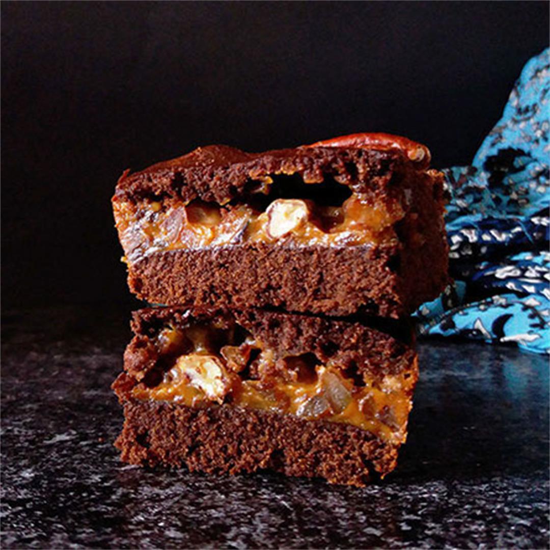 Pecan Dulce de Leche Brownies