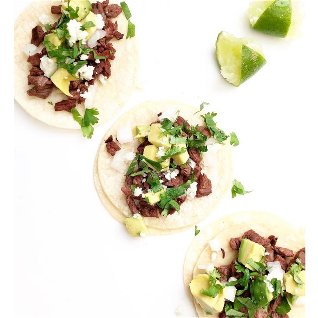 Authentic Carne Mexican Steet Tacos