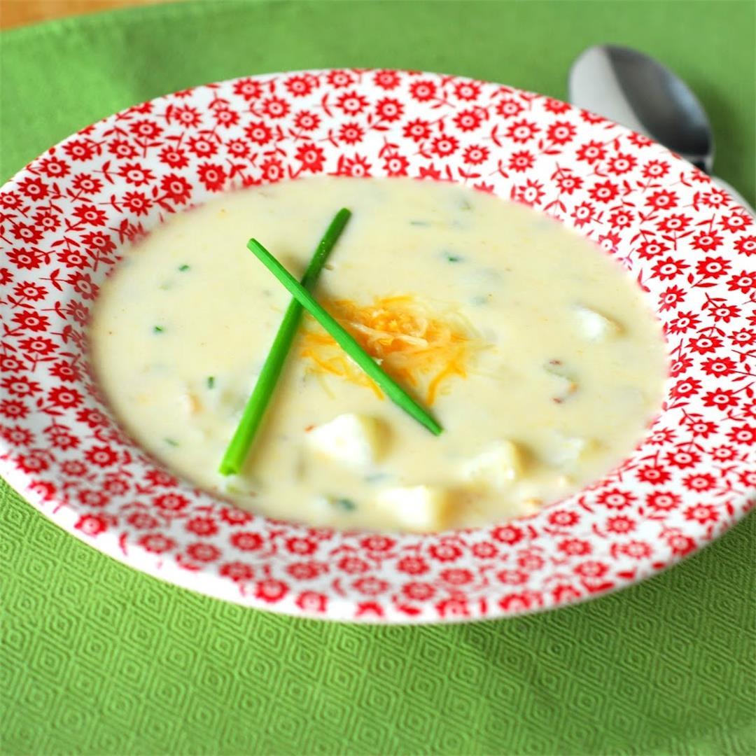 Healthified Baked Potato Soup