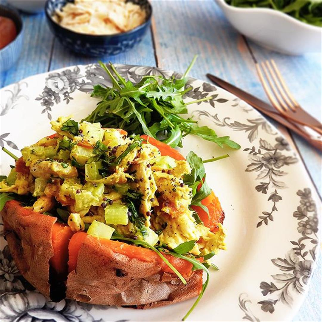 Coronation Chicken Sweet Potato Jacket