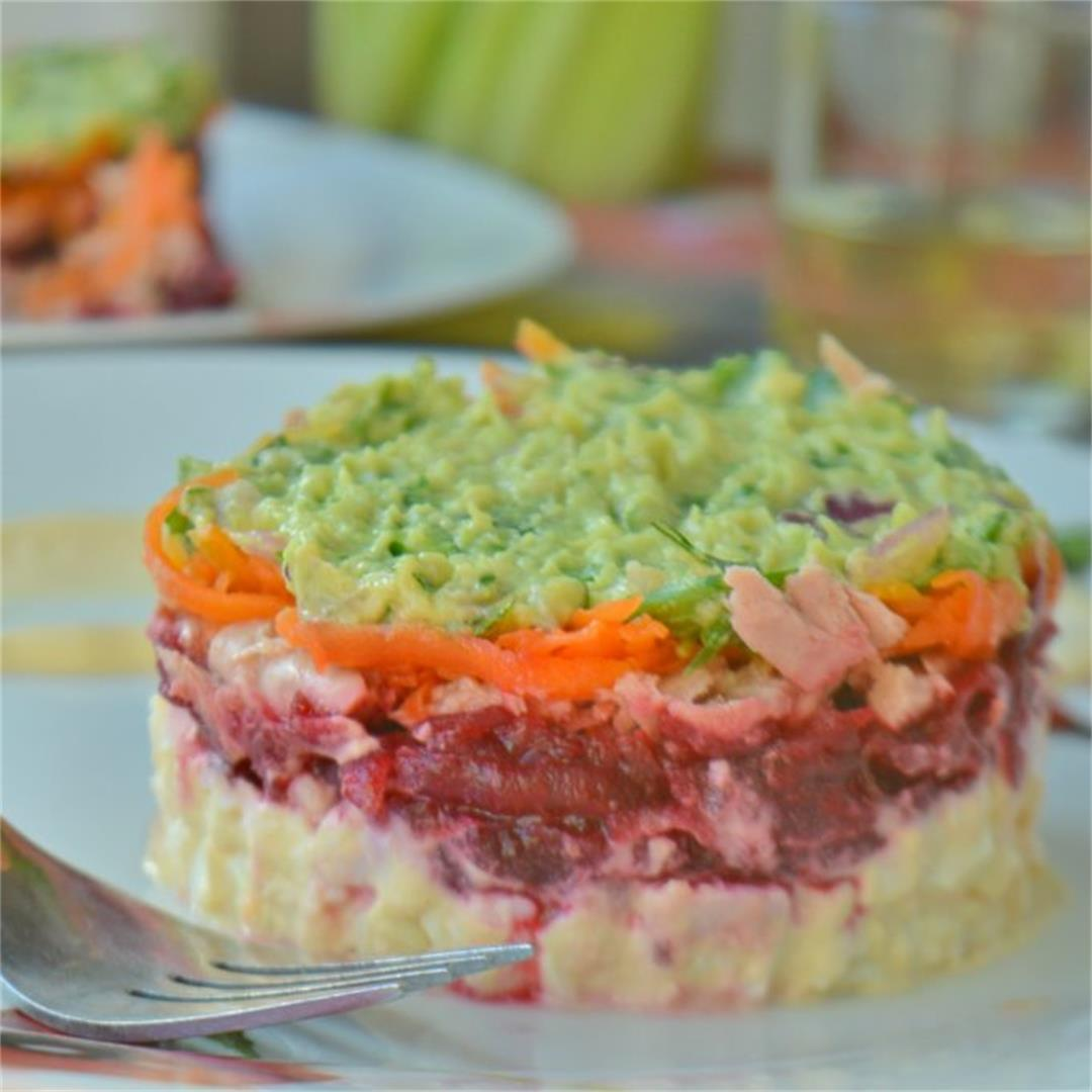 Layered Tuna & Beetroot Salad — Tasty Food for Busy Mums Simple