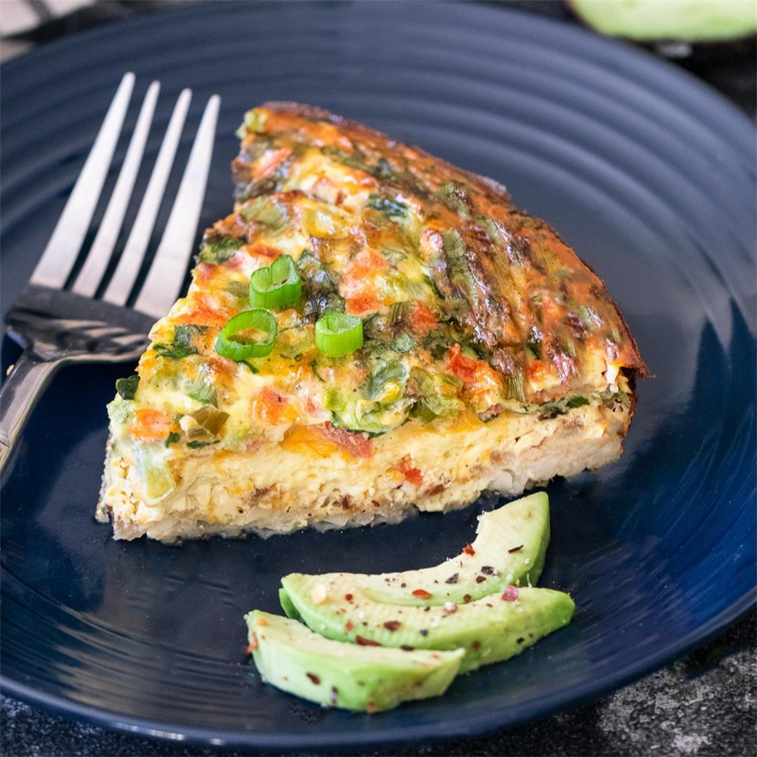 Hash Brown Frittata (Omelete baked in oven)- Ruchiskitchen