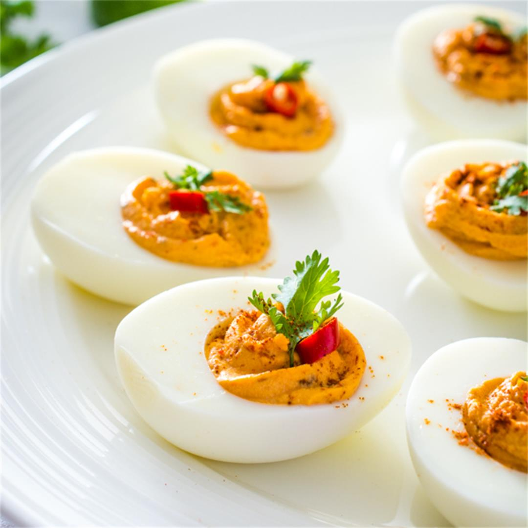 Thai Red Curry Deviled Eggs