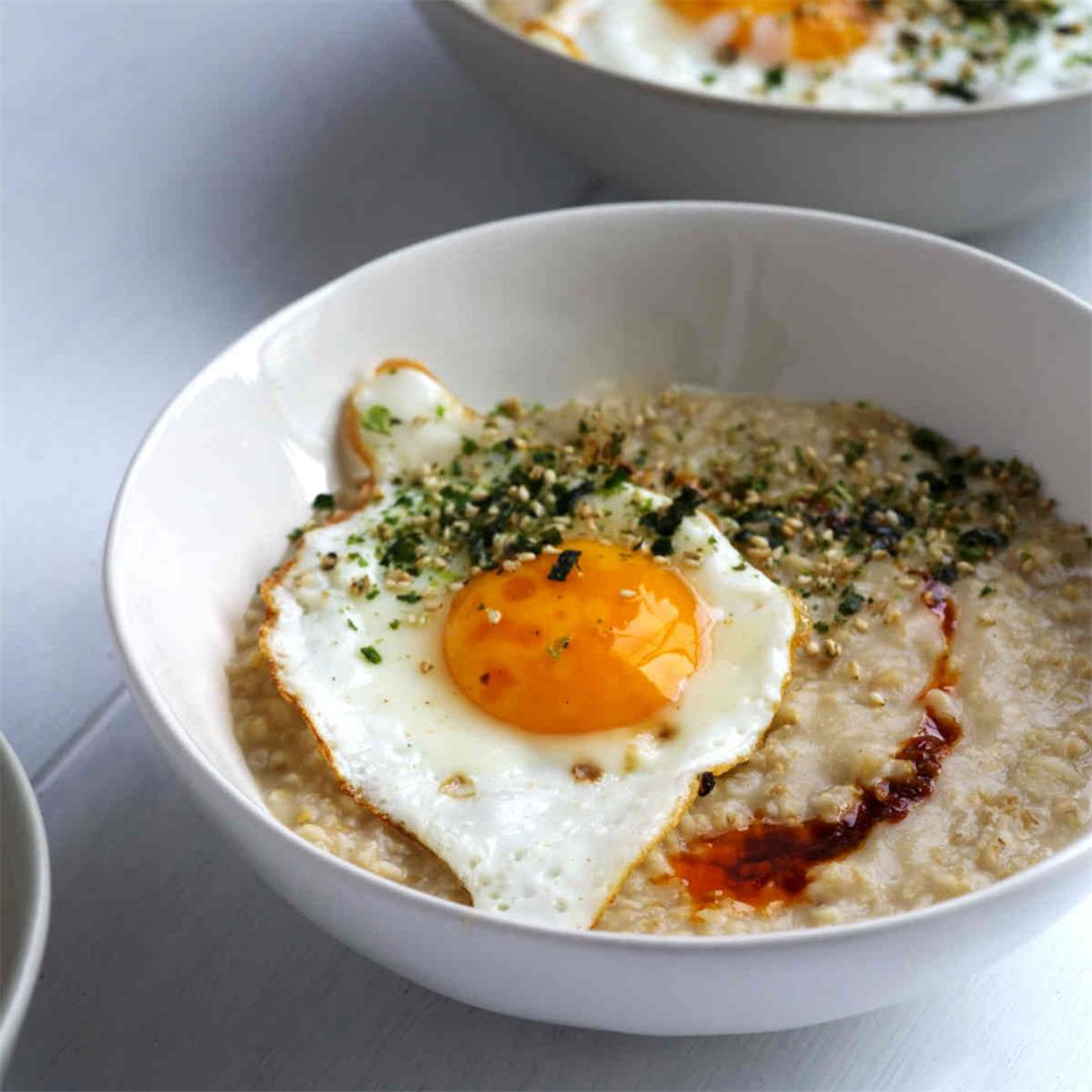 Savory Miso Oatmeal with Chili Oil