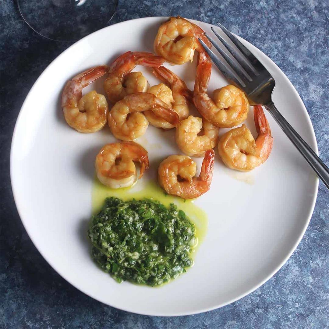 Shrimp with Cilantro Lime Dipping Sauce