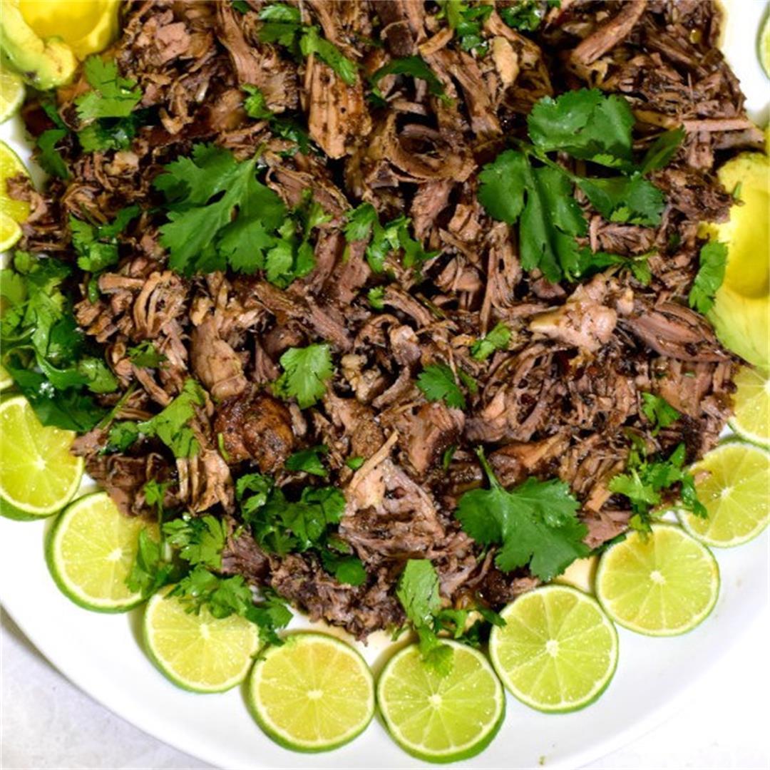 Crock Pot Barbacoa Pork (Served two ways)