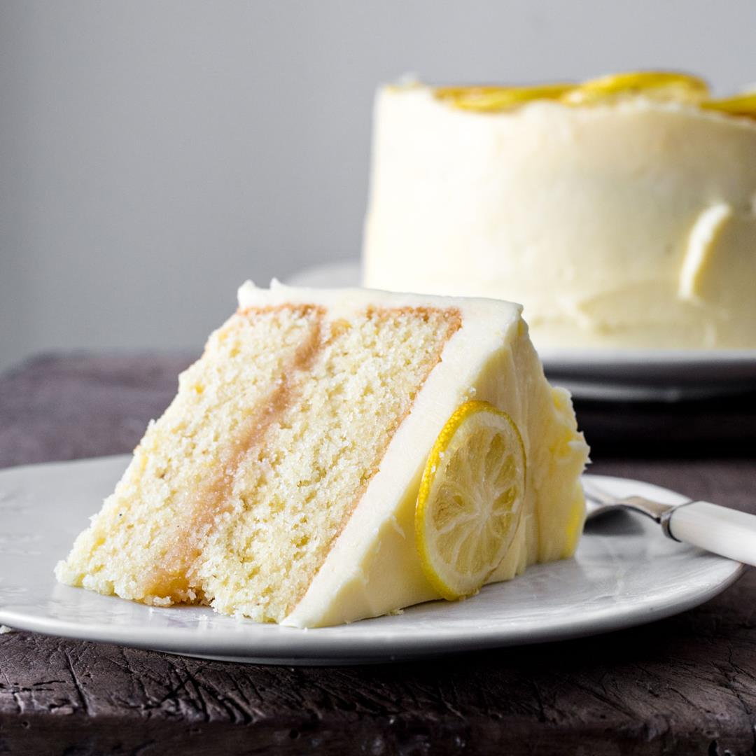 Lemon Curd Cake {gluten-free}