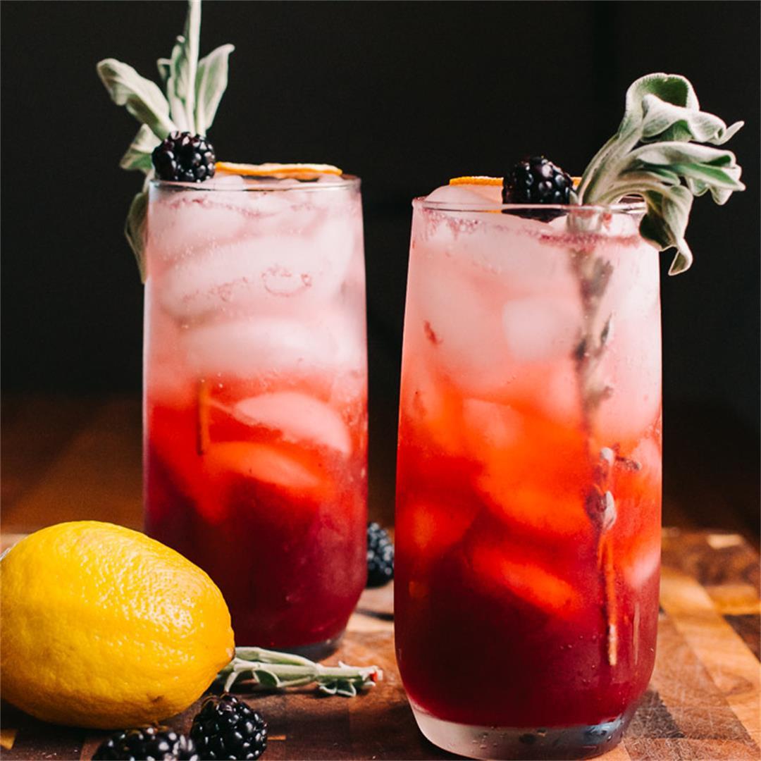 Blackberry Ginger Gin Smash