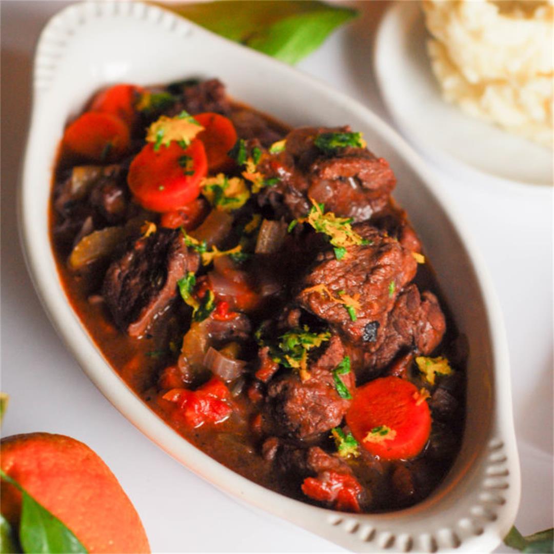 Beef Stew with Orange Gremolata