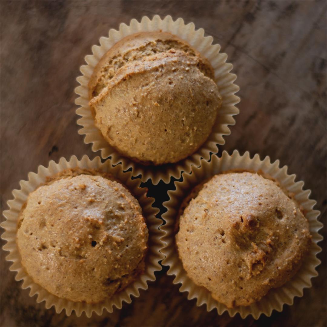 Almond Butter Muffins (gluten-free, healthy)