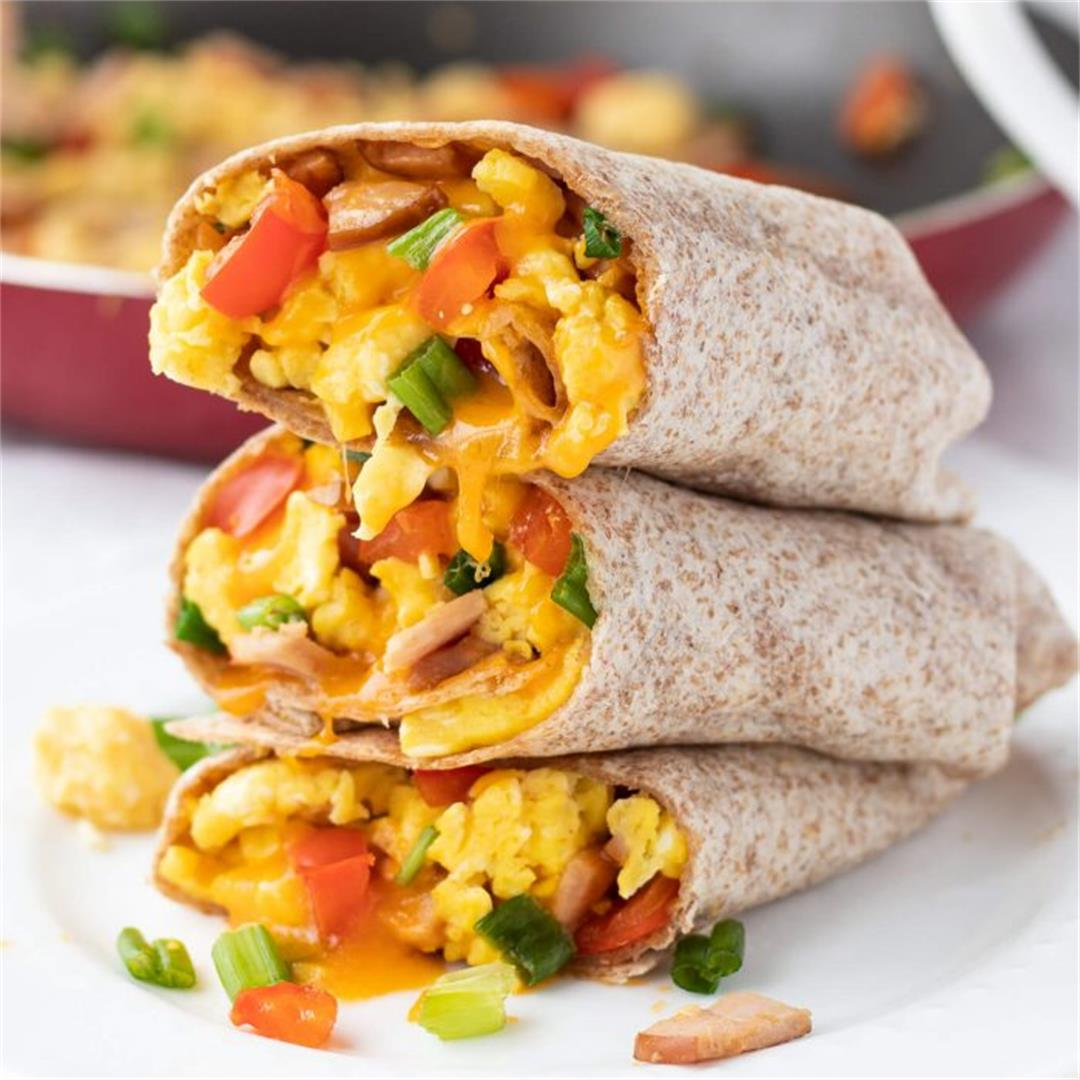 Healthy Freezer-Friendly Breakfast Burritos