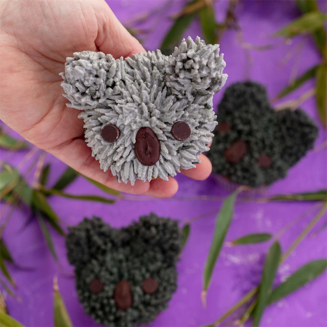 Vegan Earl Grey Koala Cupcakes