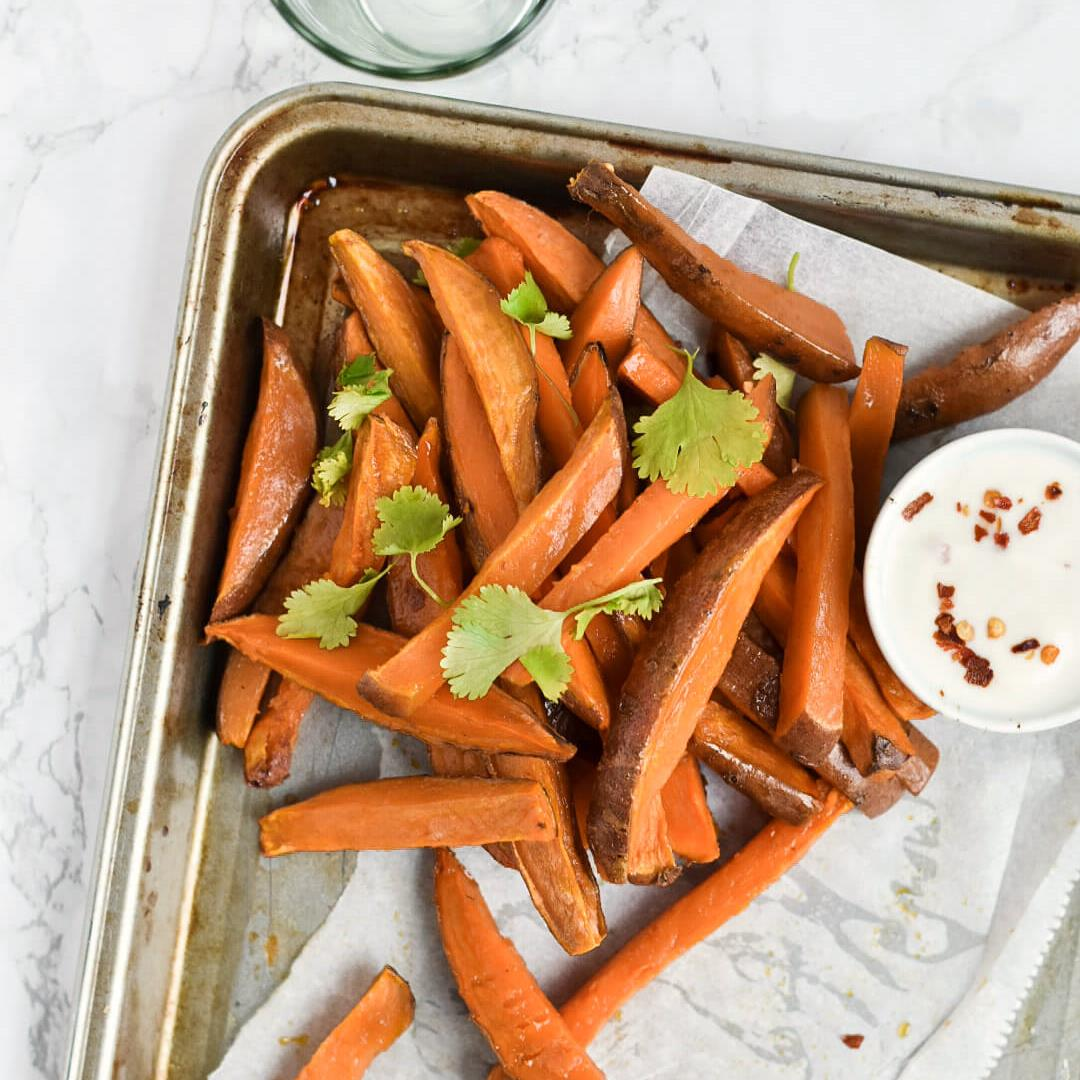 Baked Sweet Potato Fries 3 Ways