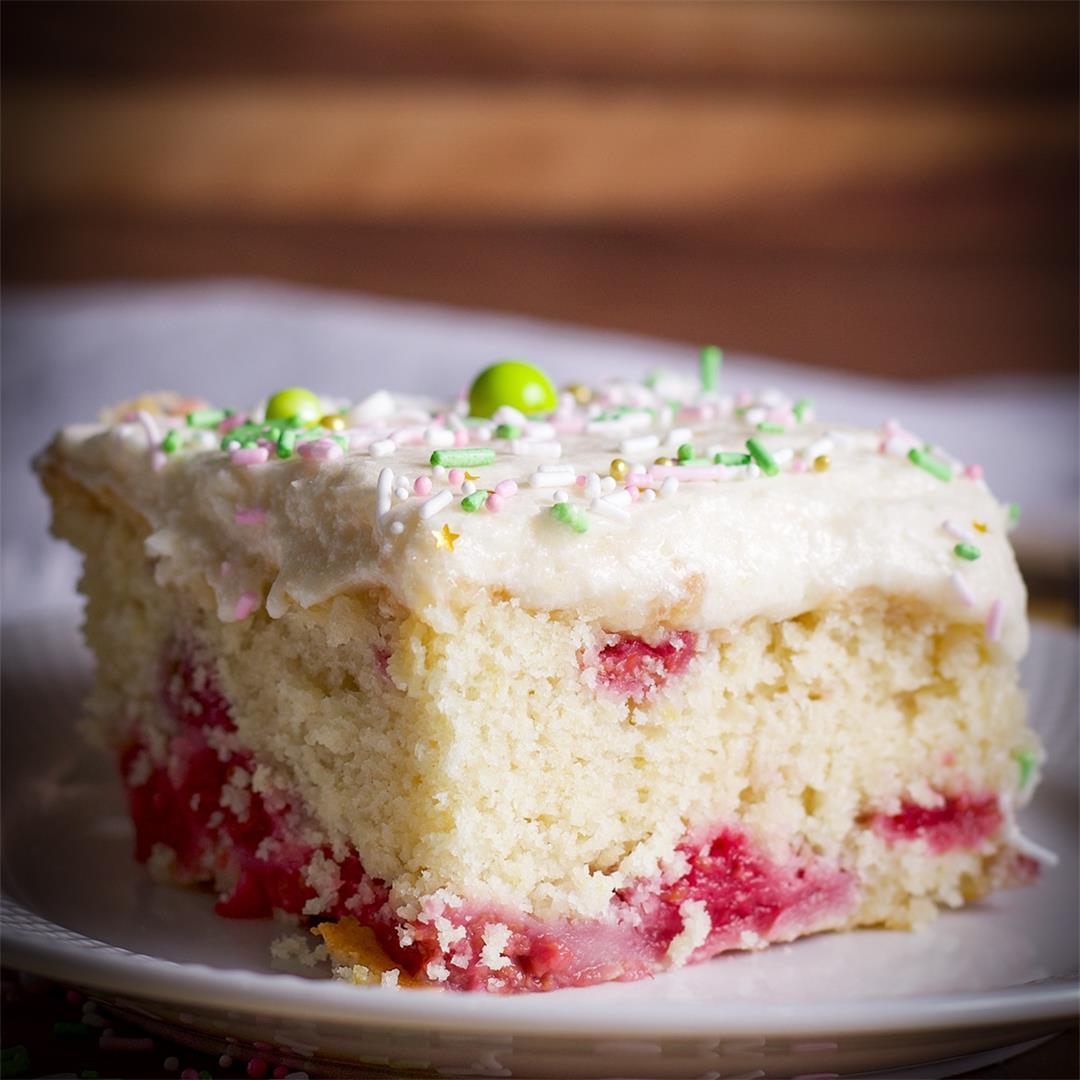 Lemon Berry Snack Cake
