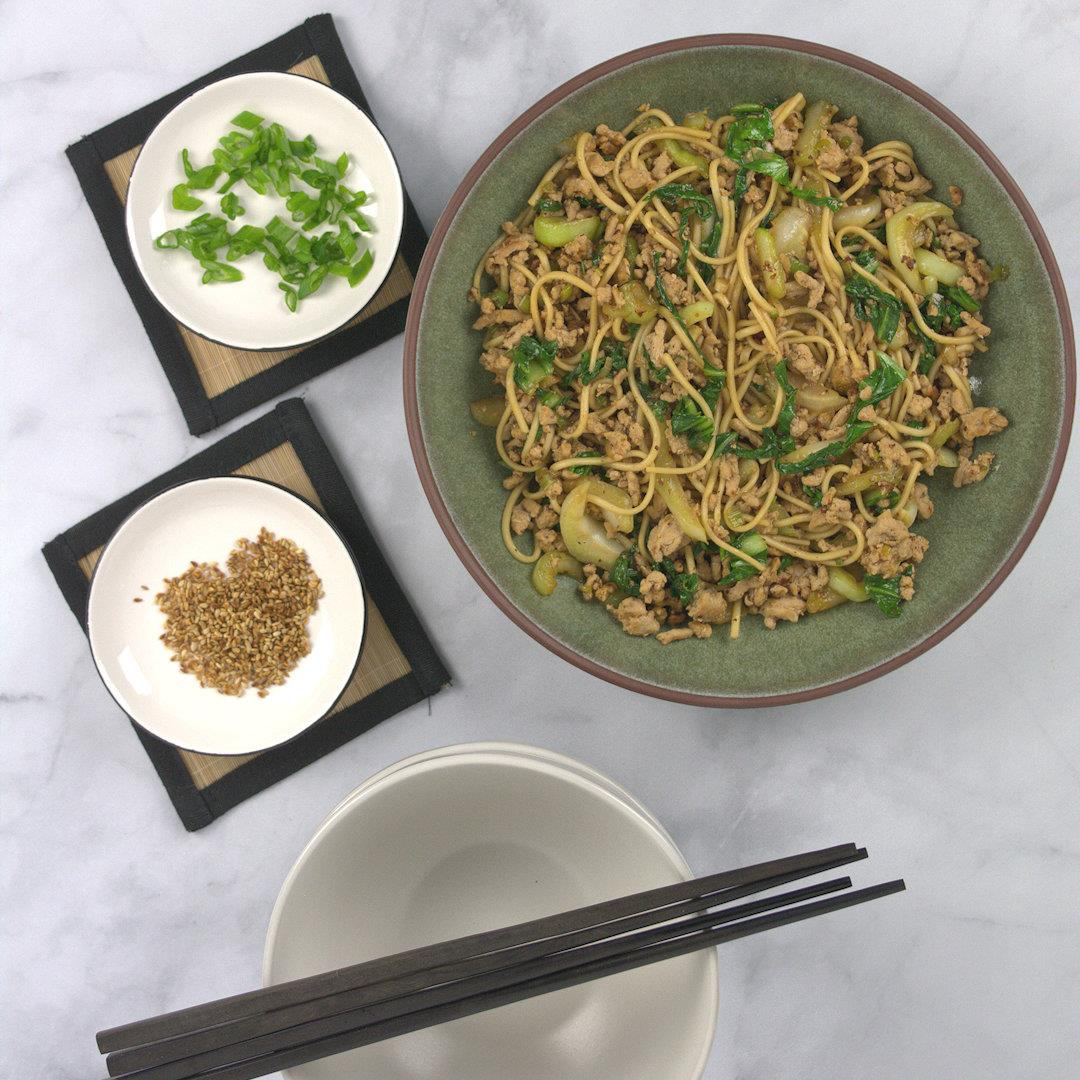 Stir Fried Udon Noodles with Bok Choy – A Gourmet Food Blog