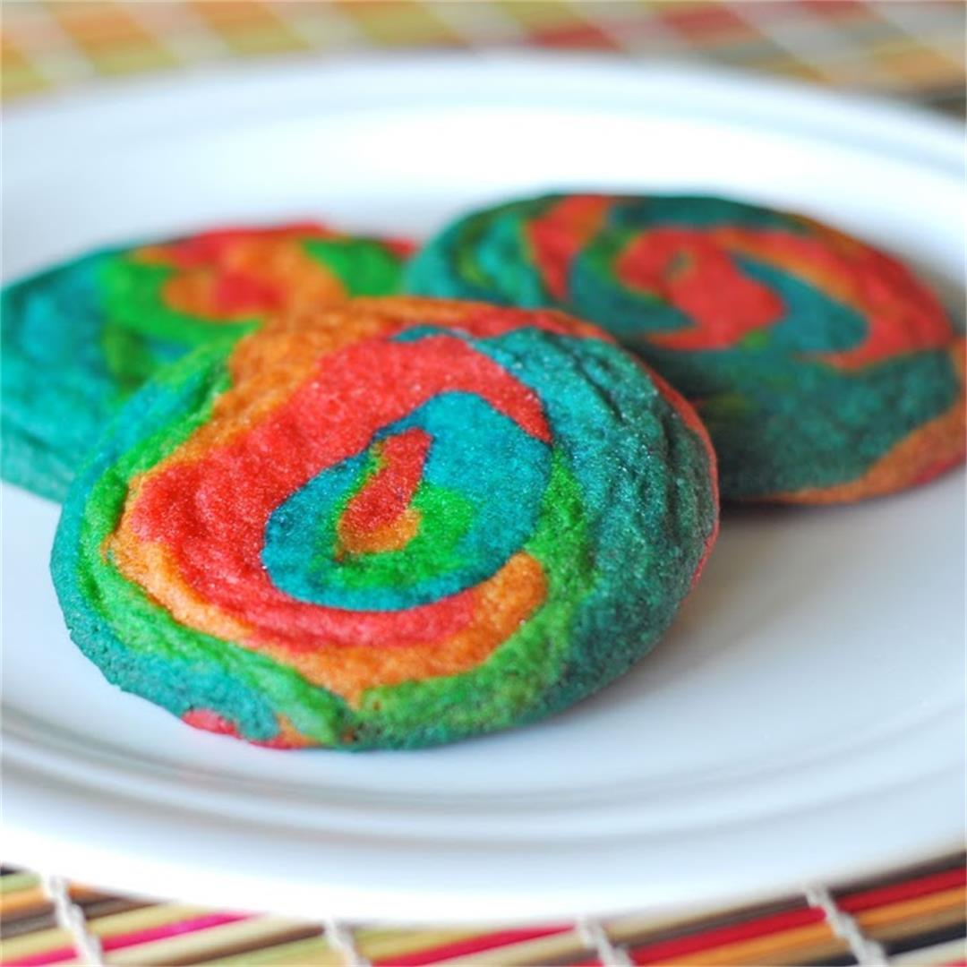 Chewy Rainbow Cookies