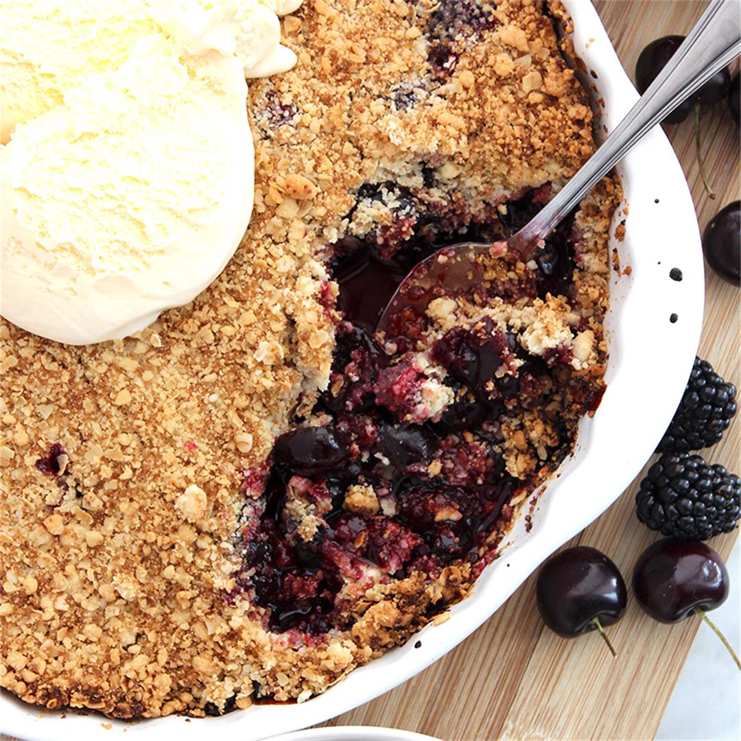 Blackberry and Cherry Crumble