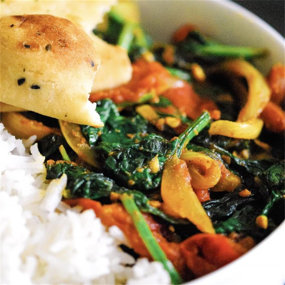 Simple Vegan Masala Curry with Fresh Vegetables