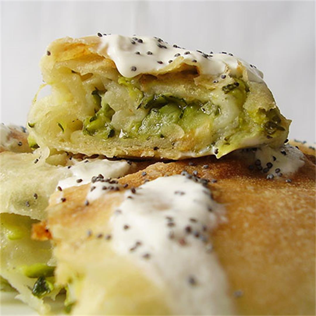 Zucchini and Parmesan Phyllo Cake