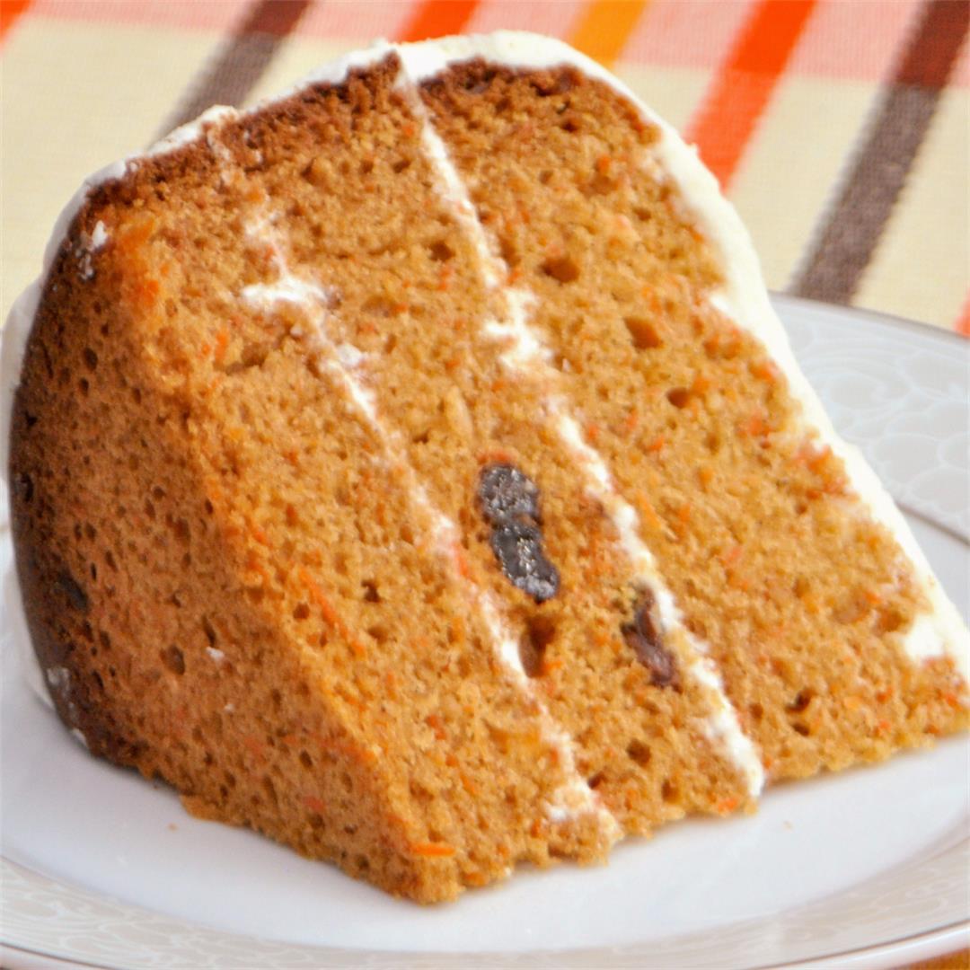 Eggless Carrot Cake in Bread Machine