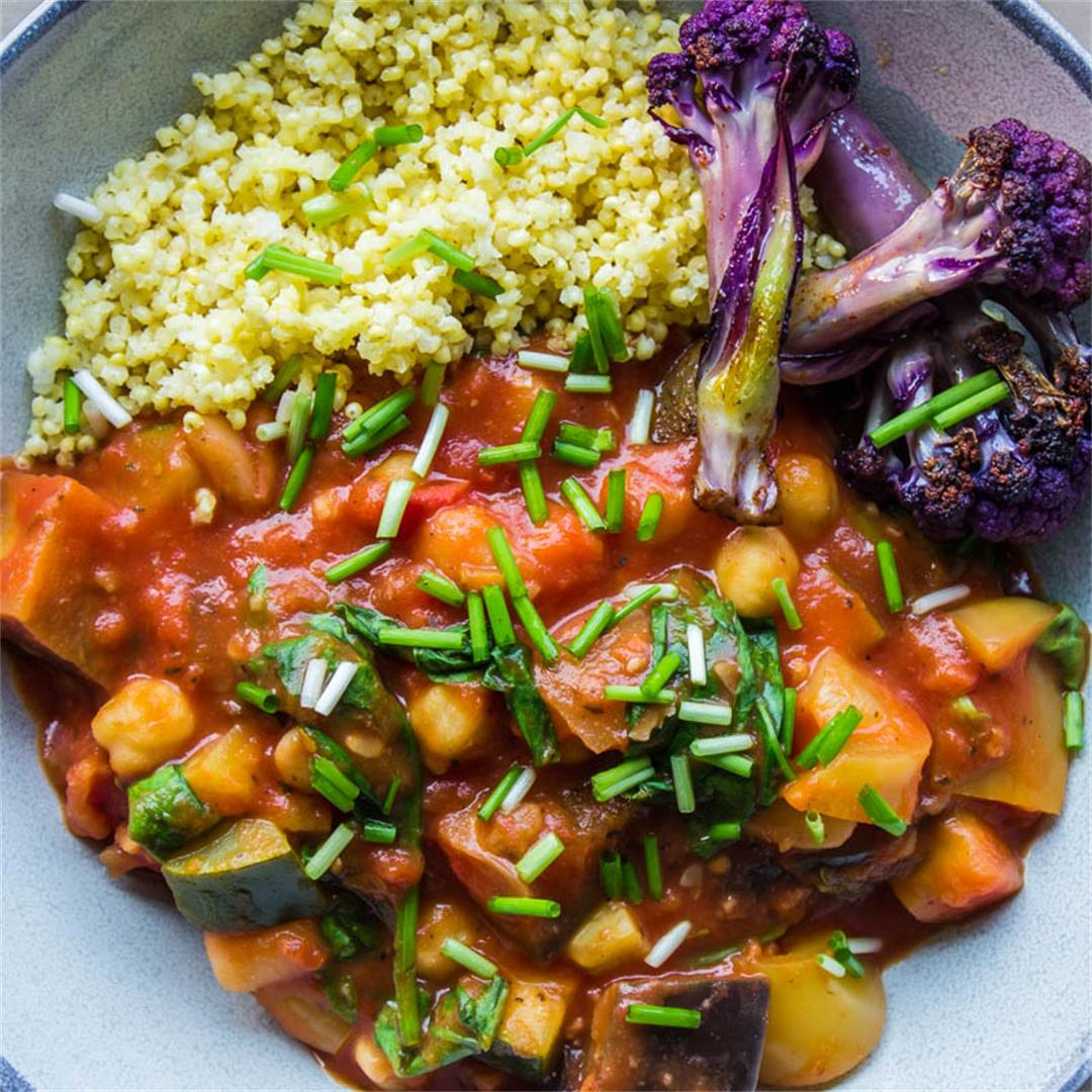 Easy Eggplant & Chickpea Stew (vegan & gluten-free) -