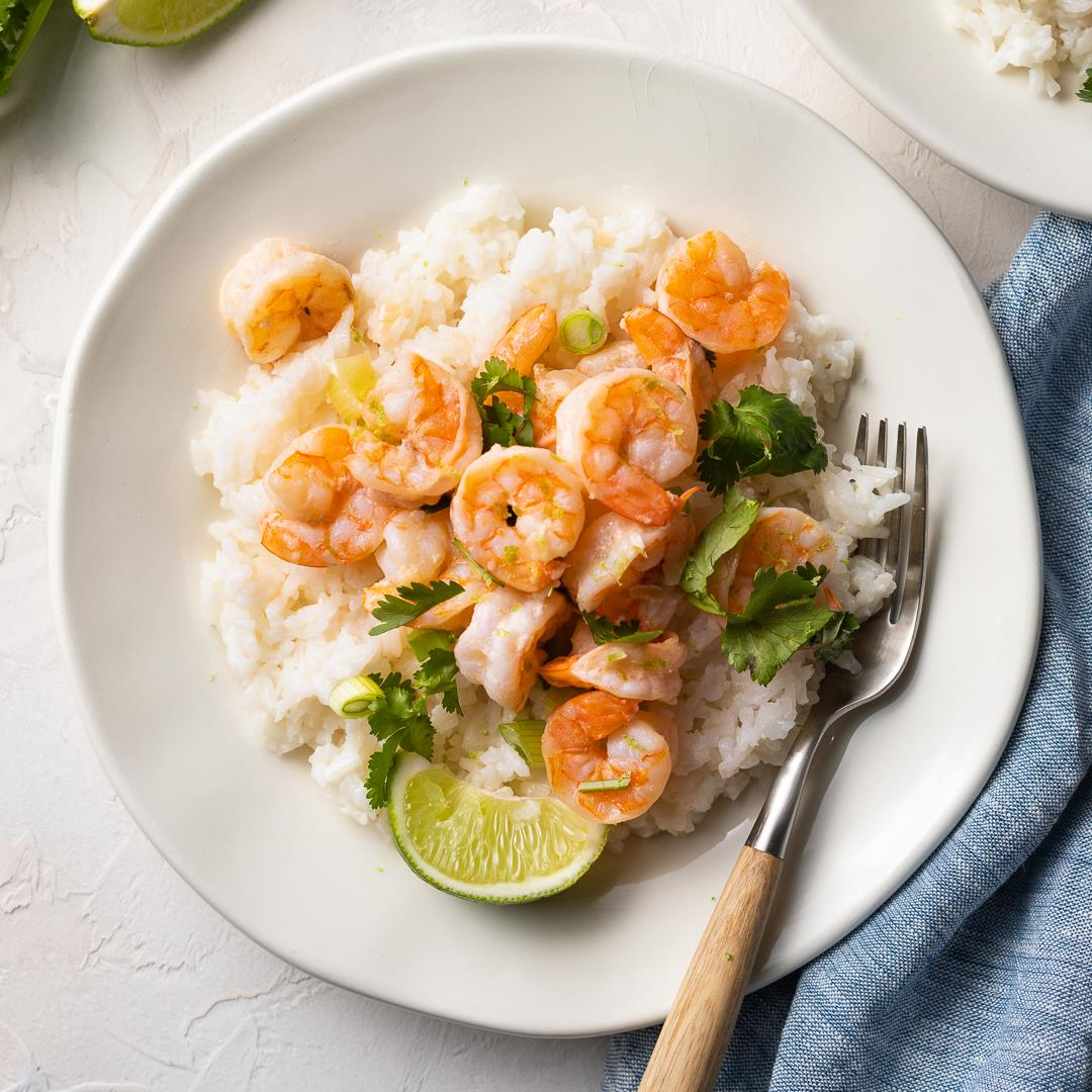 Garlic Lime Shrimp with Coconut Rice