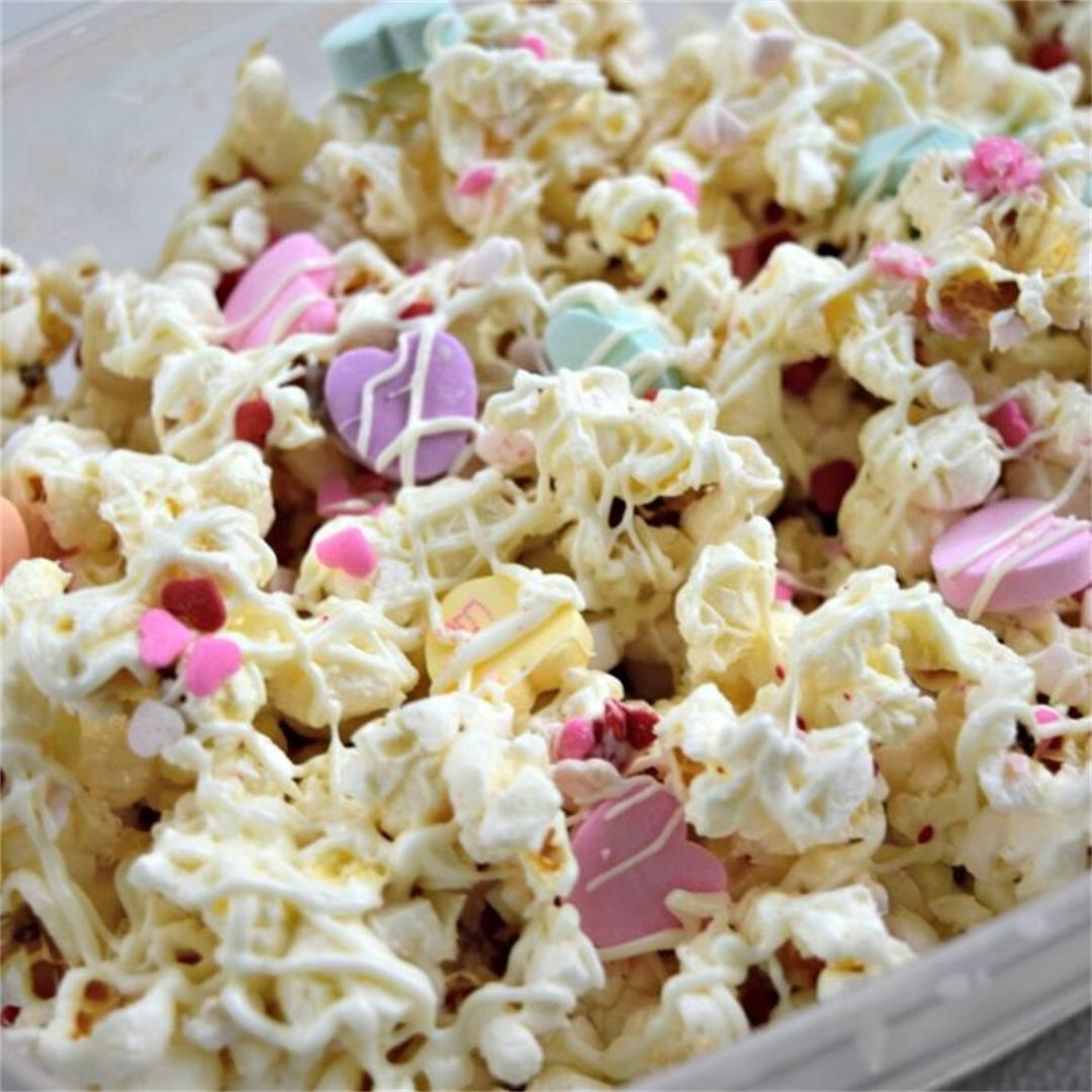 Valentine's Day Chocolate Popcorn