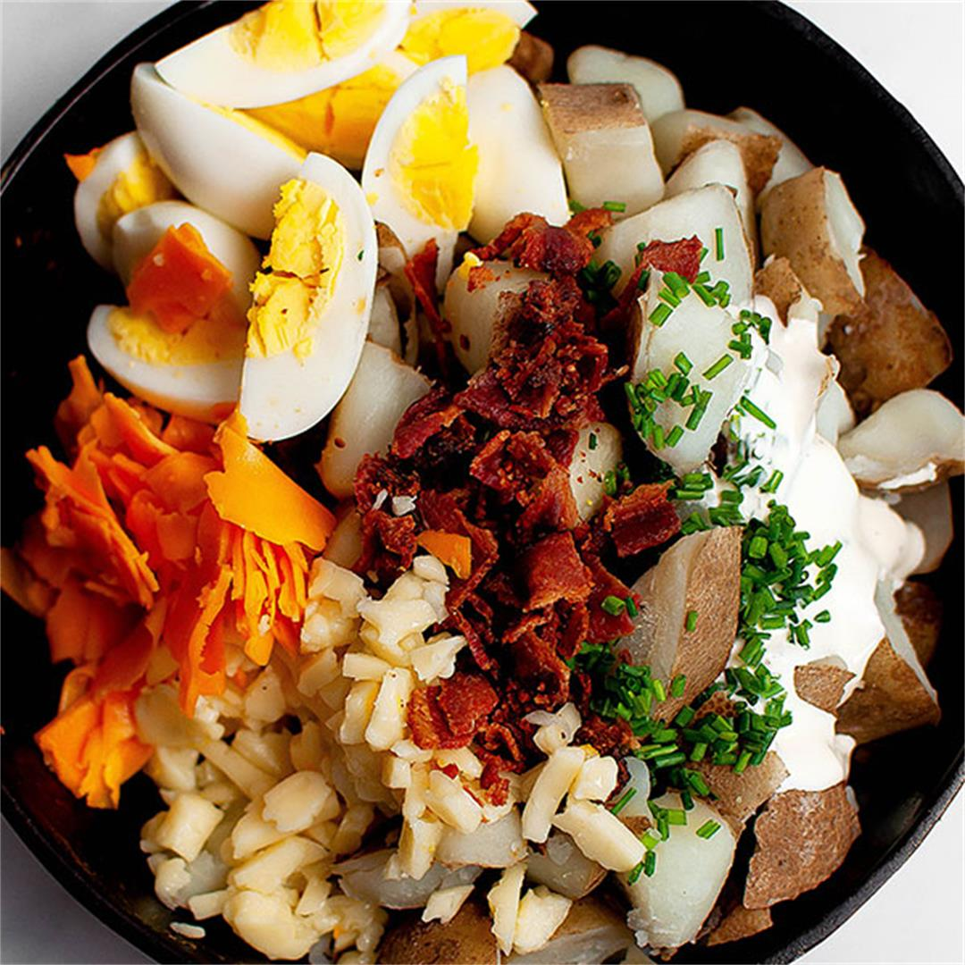 Loaded Baked Potato Salad (Easy and Healthy)