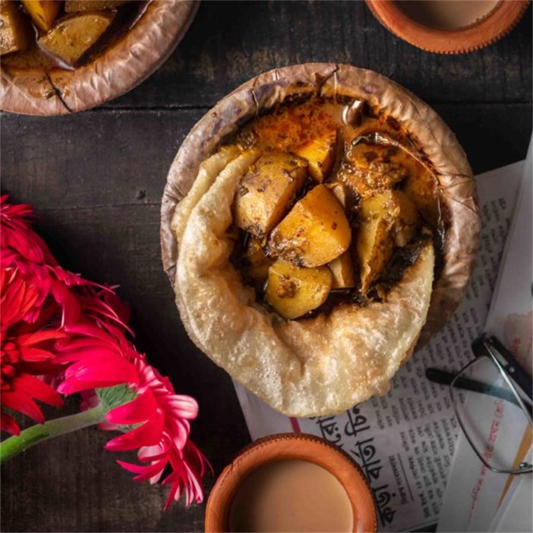 Aloor Torkari aka Potato Curry from Sweet Shops of Kolkata