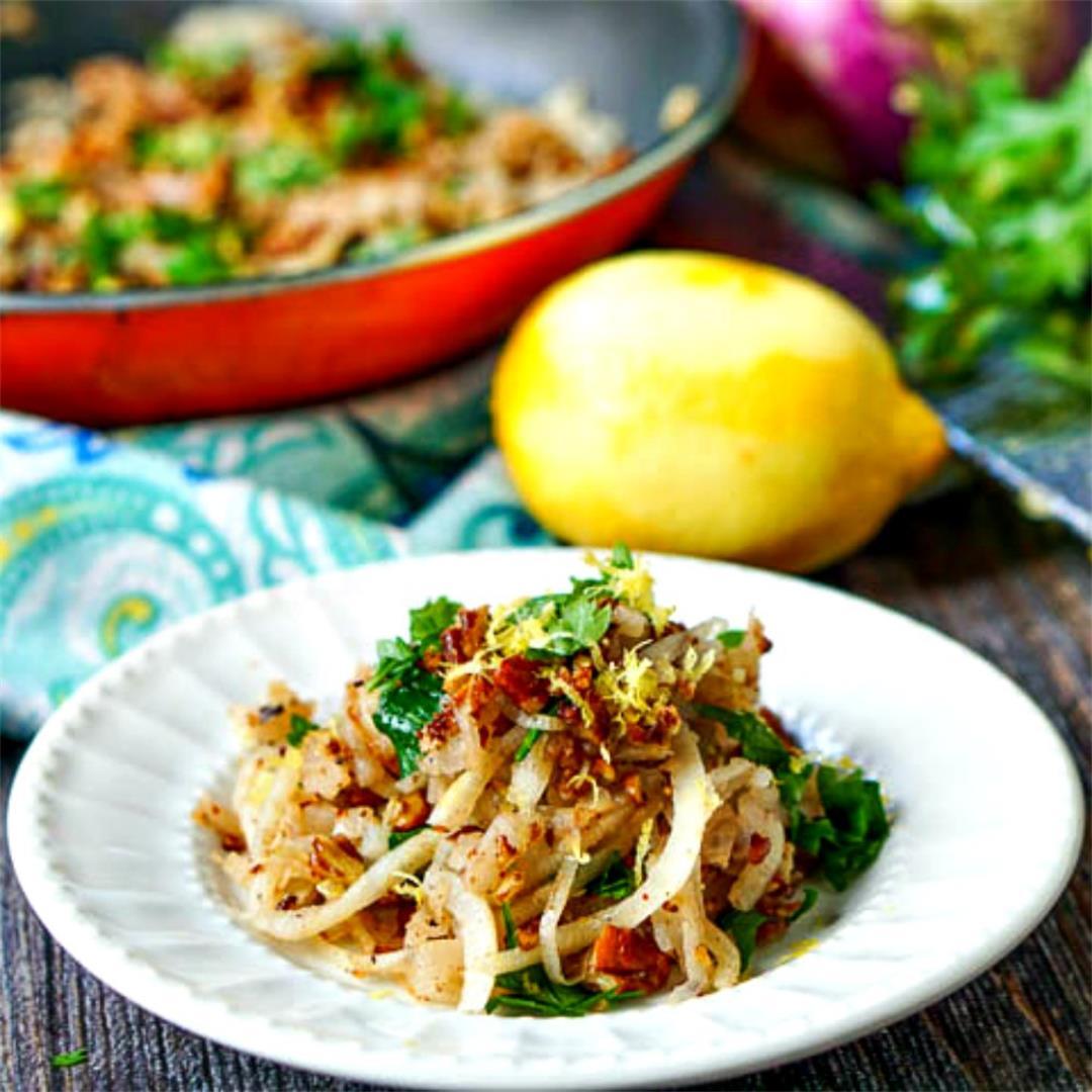 Low Carb Lemon & Garlic Veggie Noodles in 10 Minutes