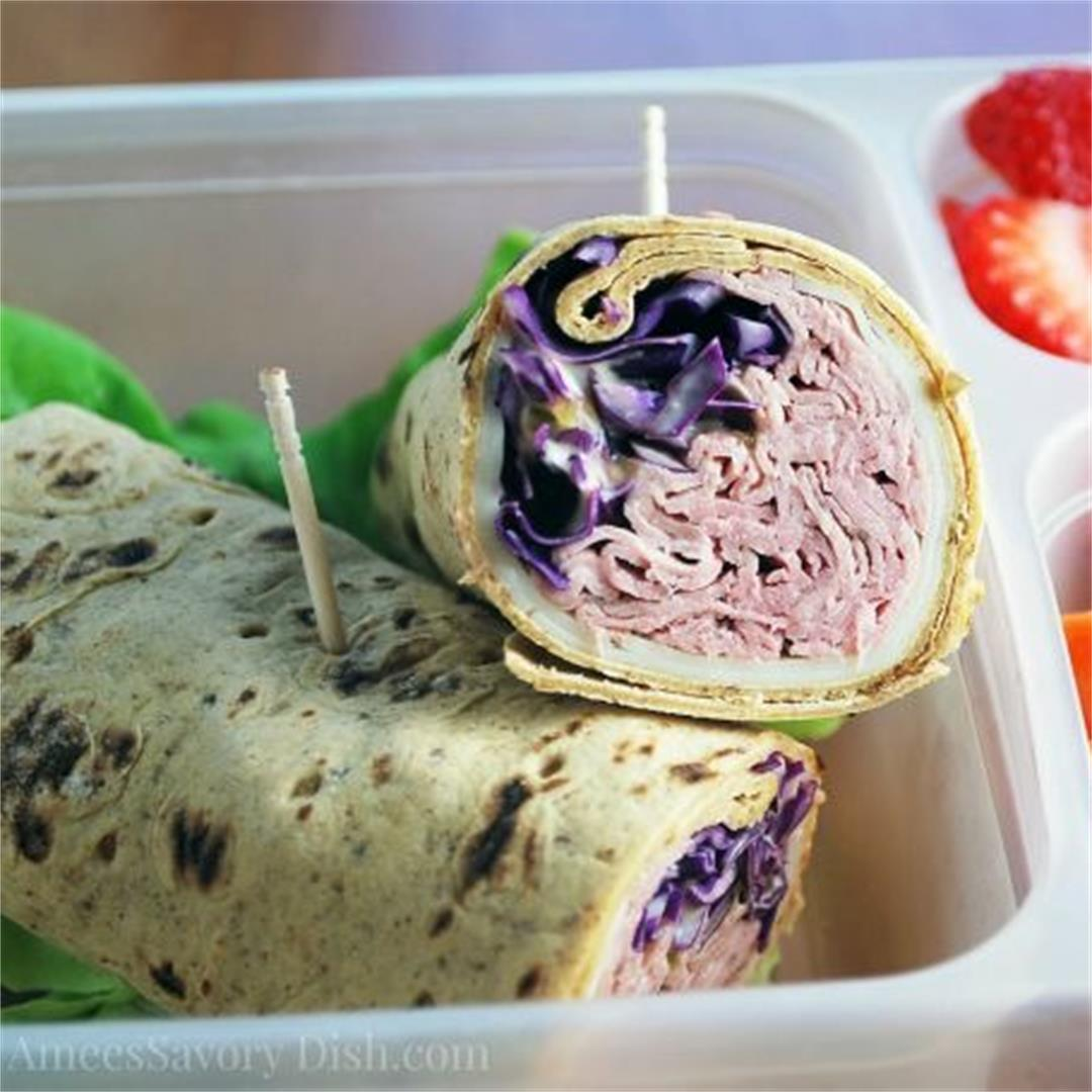 Low-Carb Reuben Wrap Sandwich