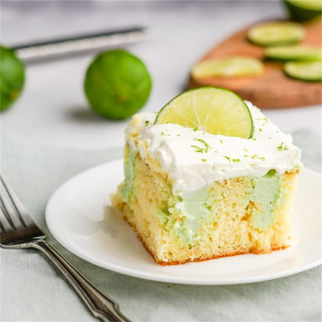 Key Lime Poke Cake
