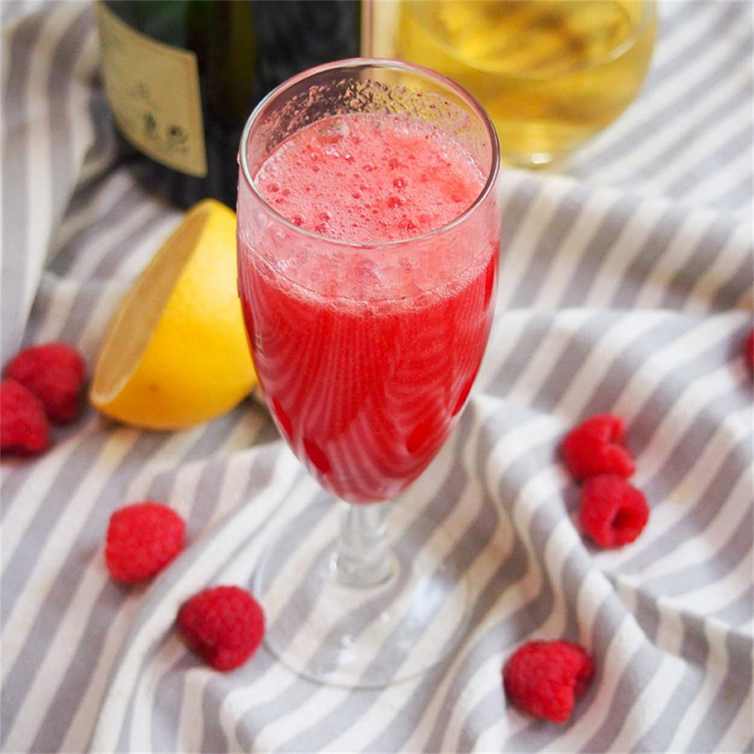 Lemon raspberry bellini