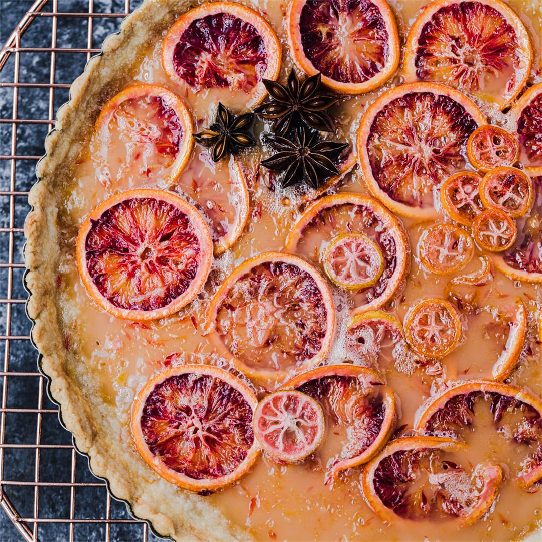Blood Orange Shaker Tart