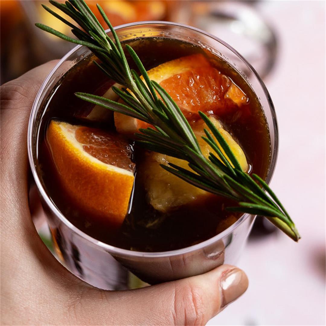 Virgin Prune Juice Pineapple Sangria & a Rosemary Syrup Recipe
