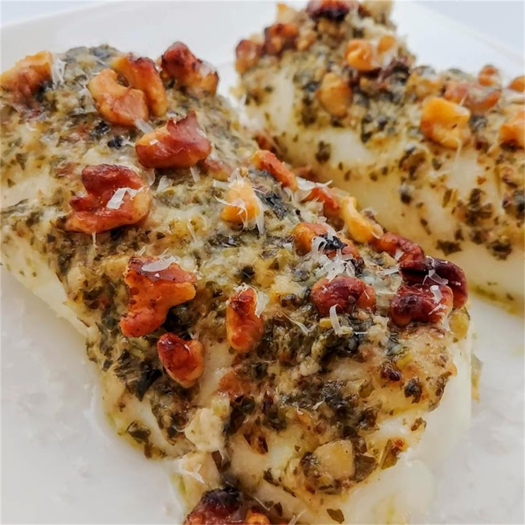 Pesto Walnut Fish Fillets (Air Fryer)