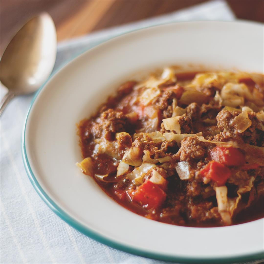 Easy Cabbage Roll Soup (keto, paleo, gluten-free)