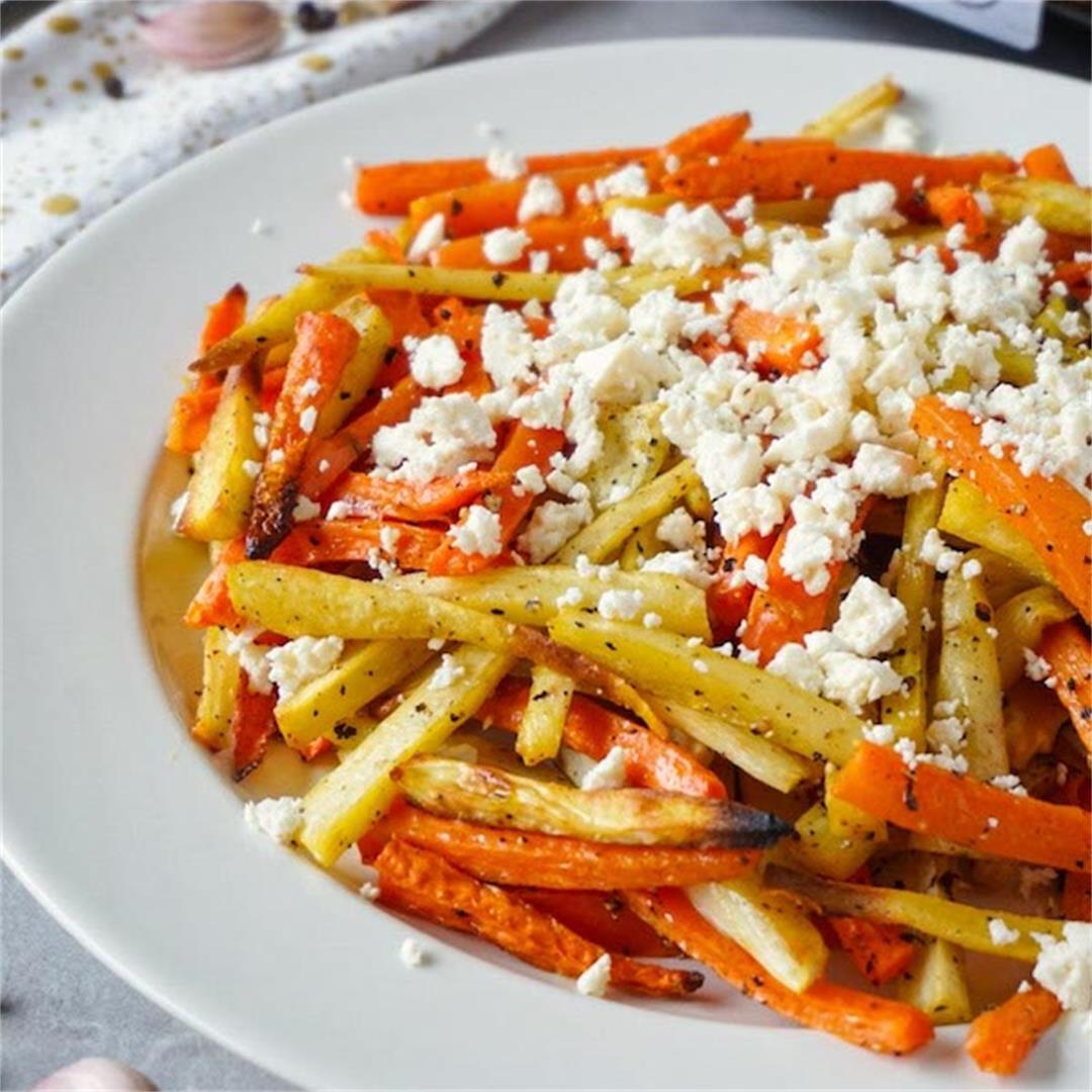 Easy roasted carrots and parsnips