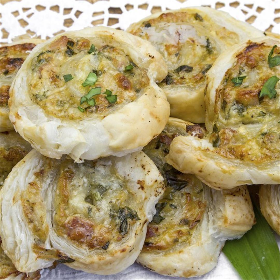 Vegan Pesto Ricotta Pinwheels