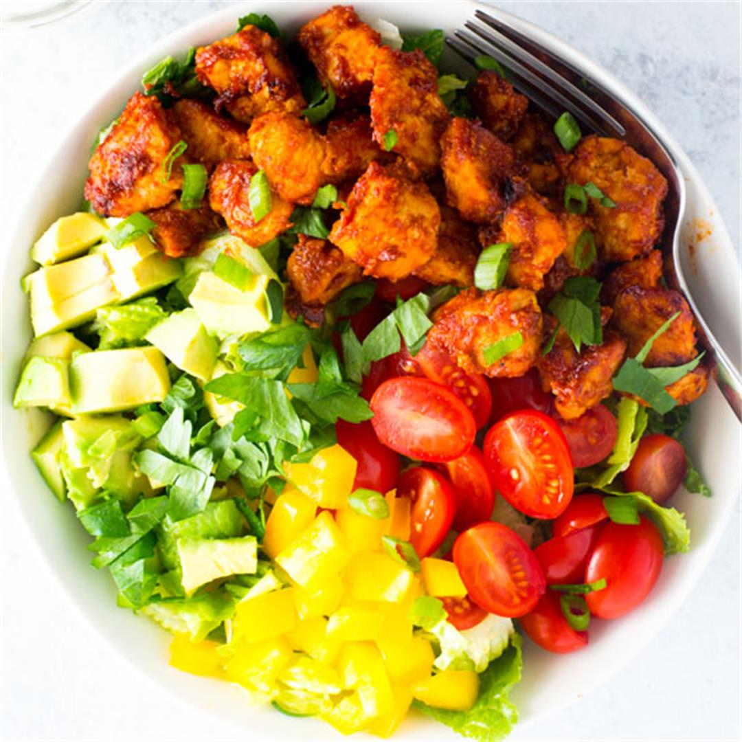 BBQ Chipotle Chicken Salad with Ranch