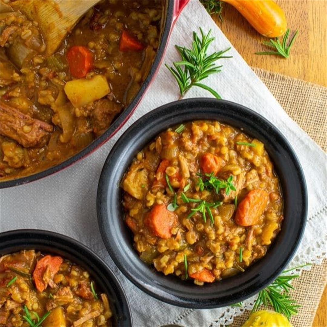 Beef Barley Pumpkin Stew