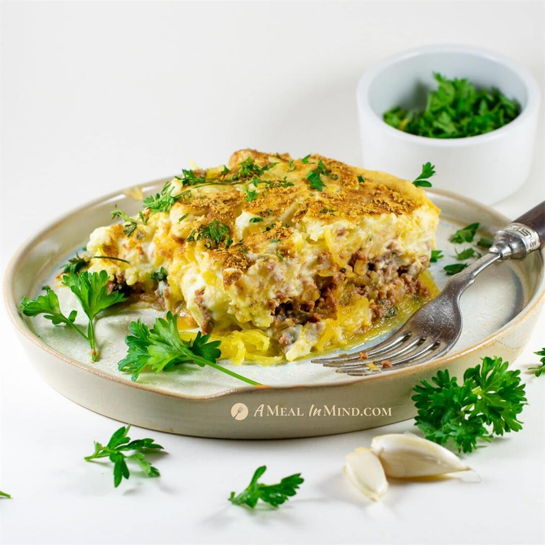 Spaghetti Squash Greek Pastitsio