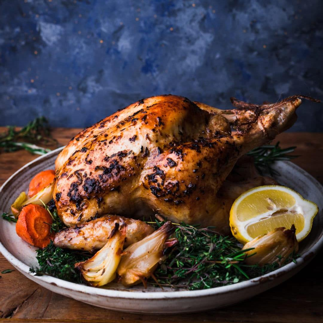 Roast Chicken with Lemon Herb Butter