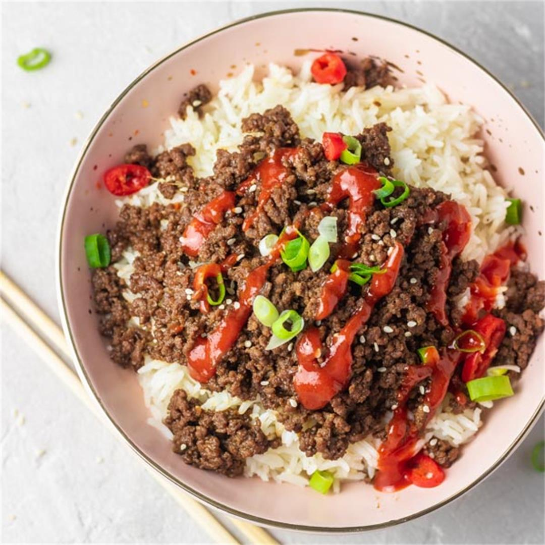 Instant Pot Korean Ground Beef Bowl
