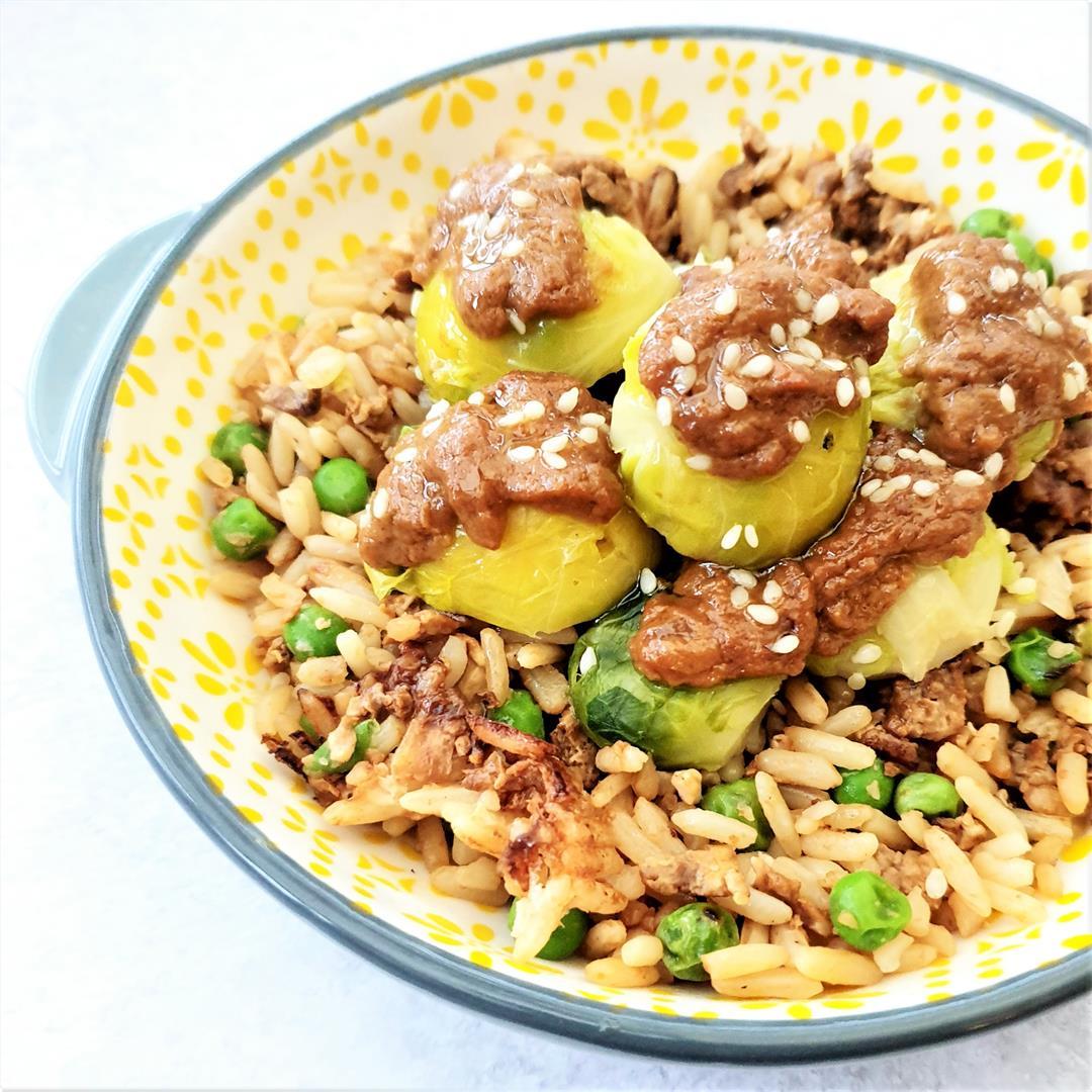 Satay Sprouts (Vegan & Gluten Free)